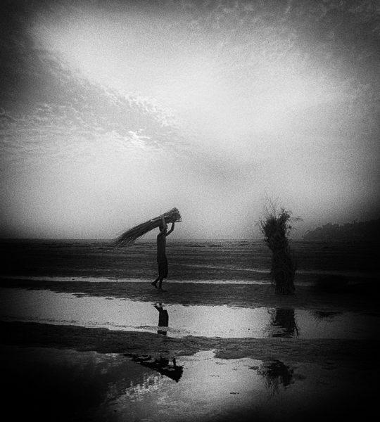 fagot photo noir et blanc technique grain argentique par Guy Monnet de la série Assam Inde