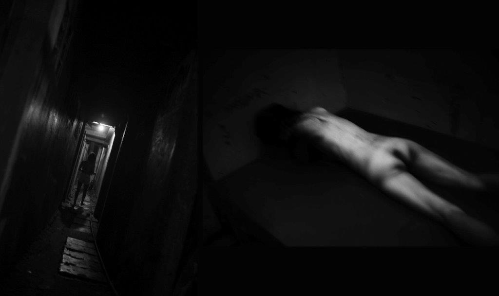 couloir sans fin prostituée Colon street Cebu Philippines photo de Guy Monnet noir et blanc de la série cris dans la nuit